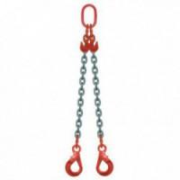ÉLINGUE CHAÎNE Grade-80 / 2 brins - réglable à 2 crochets verouillage automatique
