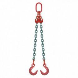 ÉLINGUE CHAÎNE Grade-80 / 2 brins - réglable à 2 crochets de fonderie