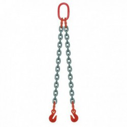 ÉLINGUE CHAÎNE Grade-80 / 2 brins - 2 crochets raccourcisseurs