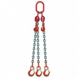 ÉLINGUE CHAÎNE Grade-80 / 3 brins - réglable 3 crochets standards