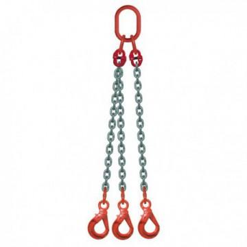 ÉLINGUE CHAÎNE Grade-80 / 3 brins - 3 crochets à verrouillage automatique