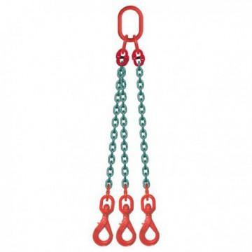 ÉLINGUE CHAÎNE Grade-80 / 3 brins - 3 crochets à touret à verrouillage automatique