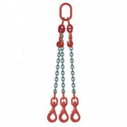 ÉLINGUE CHAÎNE Grade-80 / 3 brins - réglable 3 crochets à touret à verrouillage automatique