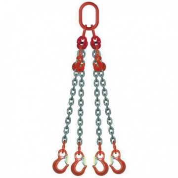 ÉLINGUE CHAÎNE Grade-80 / 4 brins - réglable 4 crochets standards