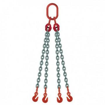 ÉLINGUE CHAÎNE Grade-80 / 4 brins - réglable 4 crochets raccourcisseurs